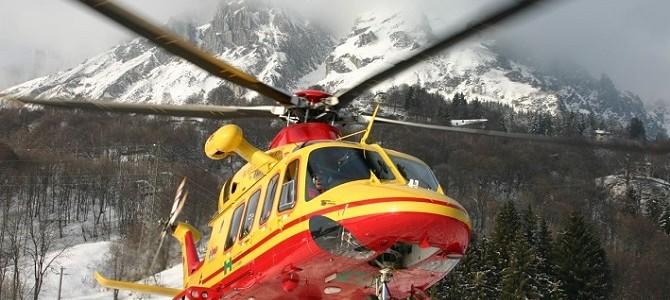 Elicottero Lecco : Elicottero e soccorso alpino super lavoro per tre