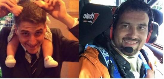 Robin Munz (a sinistra) e Stefano Campana (a destra) in due foto tratte da Facebook