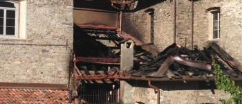 chiesa mandello incendio dopo Katia Molteni