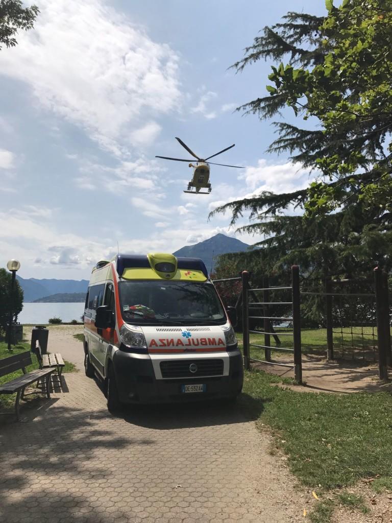 ambulanza elicottero bellano lago
