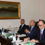 Il presidente del Consiglio di Stato Giorgio Giannini al centro, Daniele Nava a sinistra e Flavio Polano a destra